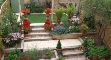 terraced flower garden simple rooftop