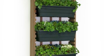 three tiered indoor wall hanging planter