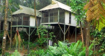 twins treehouse on stilts
