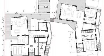 two villas first floor plan
