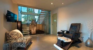 ultramodern lake house home spa close up