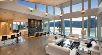 ultramodern lake house interior