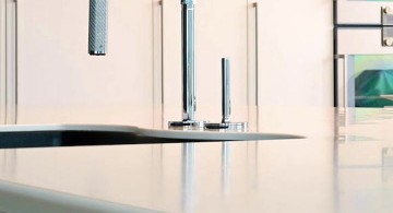 ultramodern lake house modern kitchen faucet