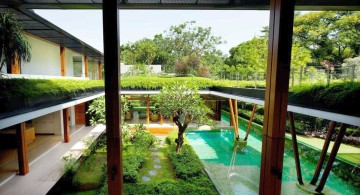 water lily house garden and pool