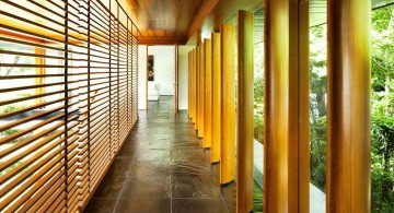 water lily house outdoor hallway