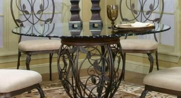 wrought iron details pedestal table base ideas