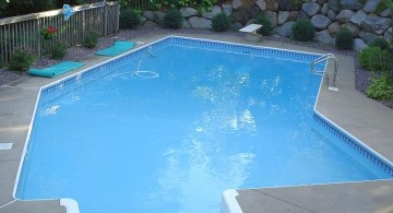 Grecian lazy l pool designs for small yard