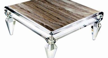acrylic coffee tables with faux marble top