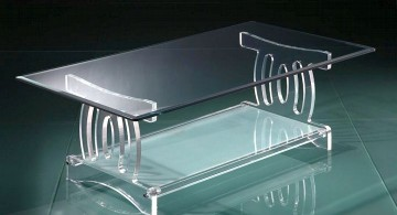 acrylic coffee tables with roman column