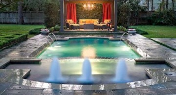 amazing swimming pools for small spaces with small gazebo
