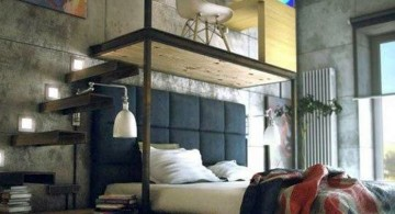 bachelor bedroom decorating ideas with loft desk