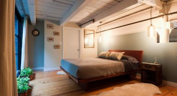 bachelor bedroom decorating ideas with rustic ceiling and floor plan