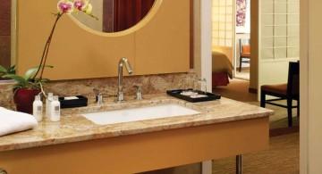 bamboo vanity Japanese bathroom designs