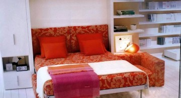 bright colored murphy bed couch ideas