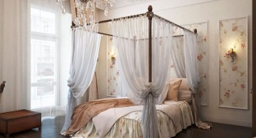classy most romantic bedrooms with four post canopied bed