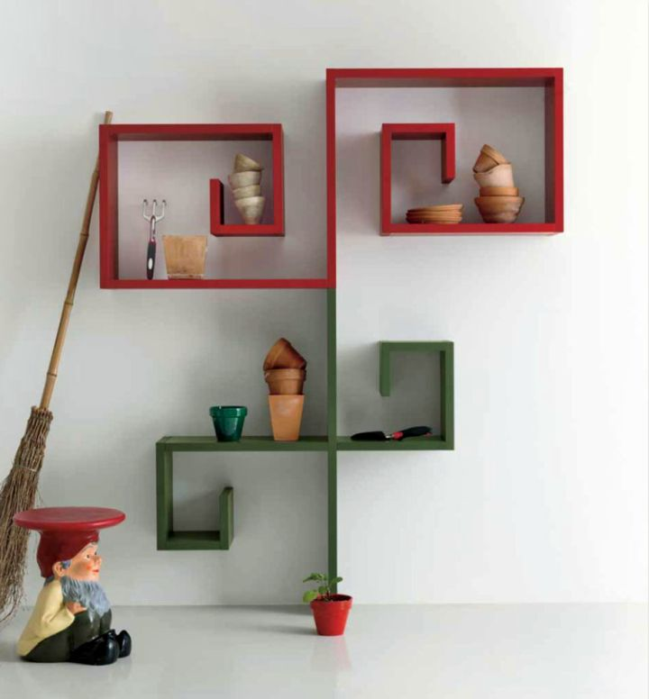 Simple Modern Ideas For Small Living Rooms To Fool The Eyes: Elegant Wall Shelves Design Inspirations