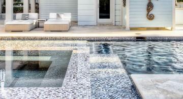 colorful mosaic tiles best pool tile