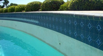 contemporary blue best pool tile