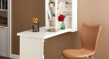 contemporary hideaway desk designs for narrow space
