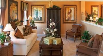 contemporary tuscan living room designs