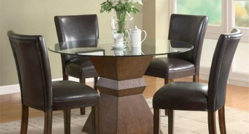 contemporary zen dining rooms with round dining rable