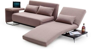 convertible bed designs with a small table attached