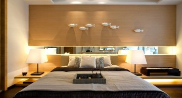 cool modern bedrooms with birds wall decoration