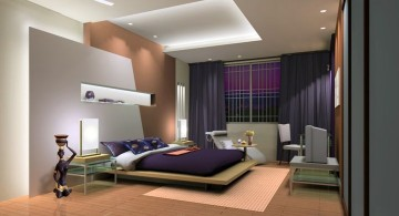 cool modern bedrooms with fake canopy