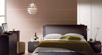 cool modern bedrooms with pendant lamp