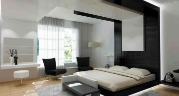 cool modern bedrooms with unique black panel canopy
