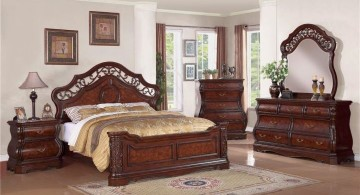 cozy tuscany bedroom furniture sets in dark wood