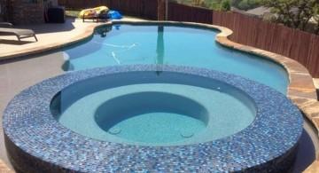 dark blue mosaic tiles best pool tile