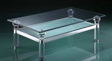 elegant acrylic coffee tables