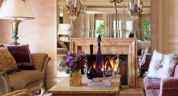 elegant tuscan living room designs with luxurious chandelier
