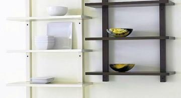 elegant wall shelves in black and white