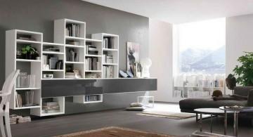 elegant wall shelves in white