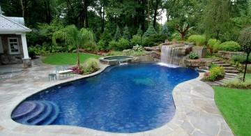 freeform pool with waterfalls for pools inground