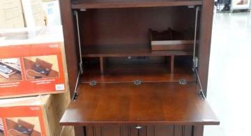 hideaway desk designs with shelf on top