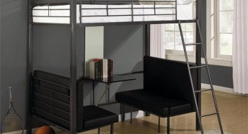 industrial convertible bed designs in black and white