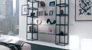 industrial steel elegant wall shelves