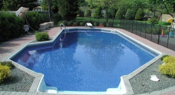 lazy l pool designs for narrow back yard