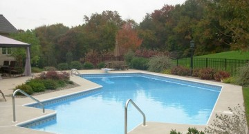 lazy l pool designs outlooking the garden
