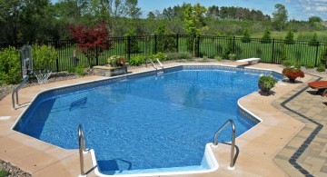 lazy l pool designs with basketball hoop