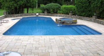 lazy l pool designs with separated hot pool