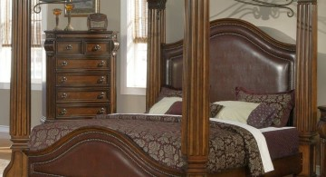 low four posts bed with pillars tuscany bedroom furniture