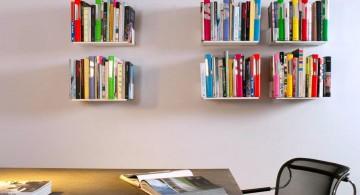 minimalist and simple elegant wall shelves