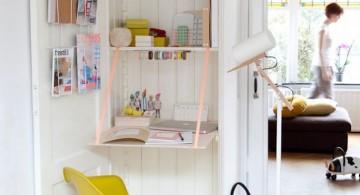 minimalist and space smart hideaway desk designs