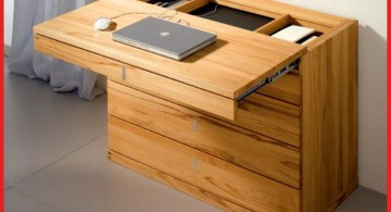 minimalist hideaway desk designs for laptop