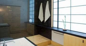 modern Japanese bathroom designs in black