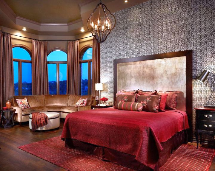 20 minimalists modern asian bedroom decor ideas 12434 | modern asian bedroom in red with unique chandelier